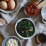 Easy and Satisfying Kale and Feta Egg Bake