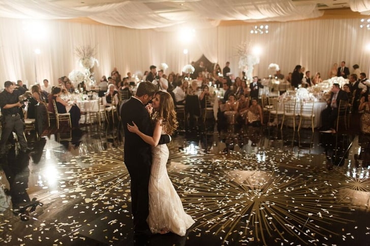 Sprinkle the dance floor with silver and gold confetti for 1 2 3 4 sexin on the dance floor