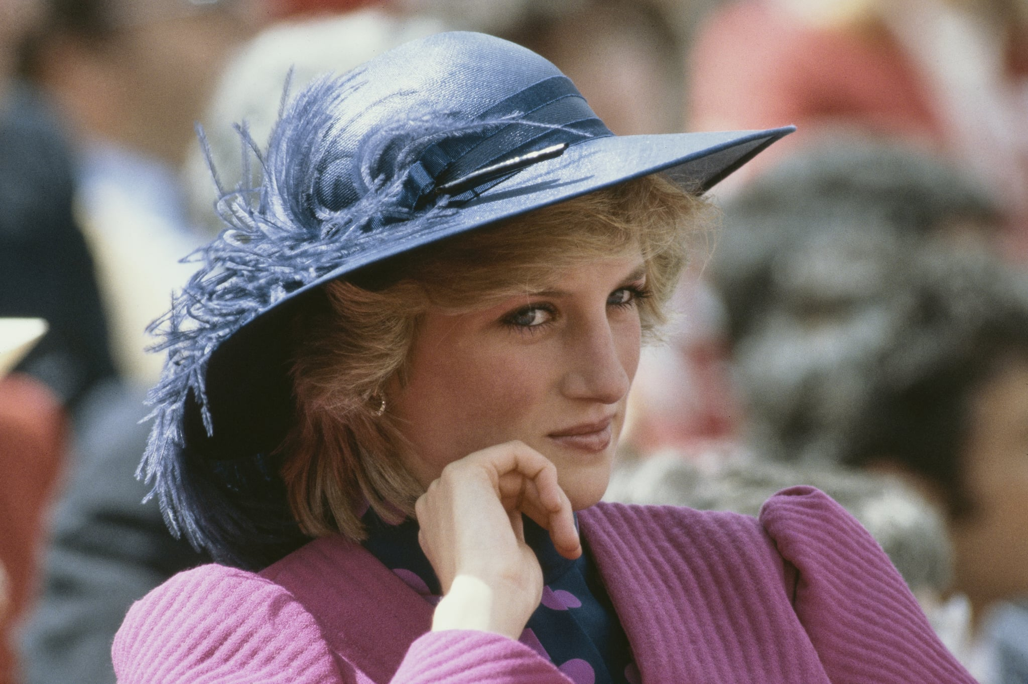 Diana, Princess of Wales  (1961 - 1997) attends the University games on her birthday in Canada, 1st July 1983.  (Photo by Tim Graham Photo Library via Getty Images)