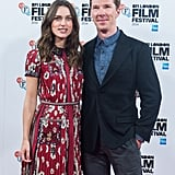 Benedict Cumberbatch and Keira Knightley beamed at an event for The Imitation Game in London on Wednesday.