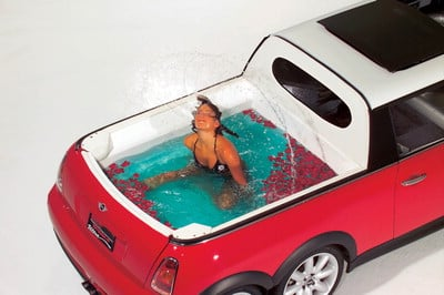 Mini Cooper Limo With Pool Trumps Talking Billboards
