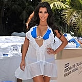 Kim wore a see-through cover-up during a May 2009 promotional event in Malibu.