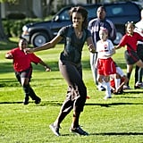 When She Played Soccer on the White House Lawn