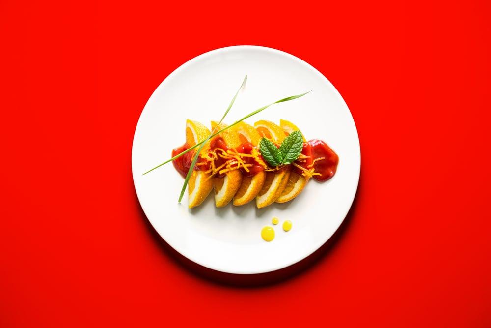 Orange Sushi With Tomato Sauce Glaze