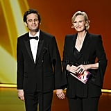 Luke Kirby and Jane Lynch at the 2019 Emmys