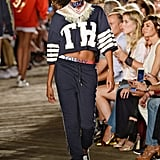 Fringed bandanas topped jerseys and sweaters.