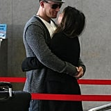 Channing and Jenna embraced at LAX in February 2012.