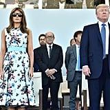 Melania Trump Valentino Dress Bastille Day 2017
