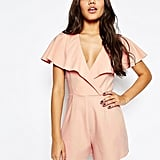 Asos Occasion Ruffle Wrap Playsuit ($60)