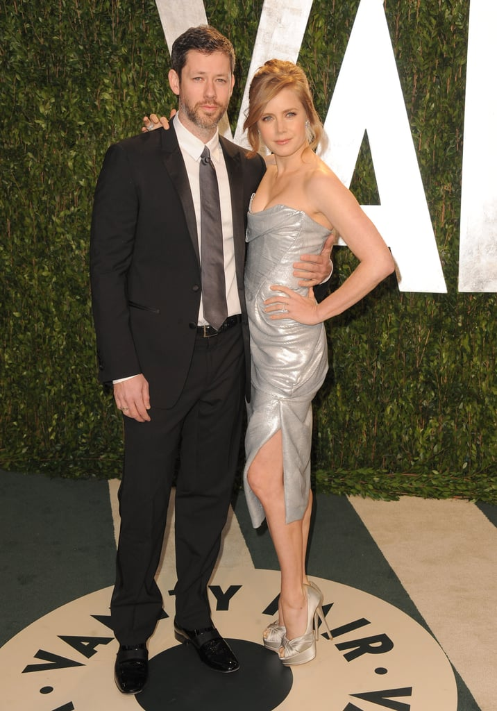 Amy Adams in Vivienne Westwood on the Vanity Fair red carpet with husband Darren Le Gallo.