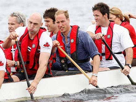 Prince William Beats Kate in Friendly Dragon Boat Race