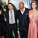 Channing Tatum stepped out with Dwayne Johnson, Adrianne Palicki, and Elodie Yung at the G.I. Joe Retaliation premiere in London.