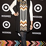 Elizaneth Olsen wore a cute, layered look to the Missoni X Target party.