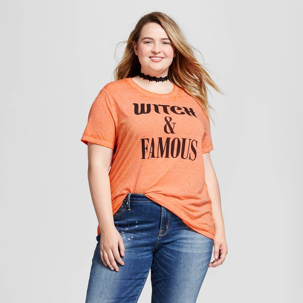 Zoe+Liv Plus-Size Witch and Famous Graphic T-Shirt