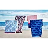 Vineyard Whale Print Beach Towel