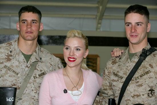 Scarlett Johansson Greets Marines in Kuwait