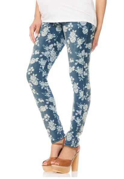 The printed-jeans trend easily carries over to the maternity section with Motherhood's Fade to Blue Secret Fit Belly 5 Pocket Skinny Leg Maternity Jeans ($45). The indigo background makes them a great foundation piece for tops of almost any color.