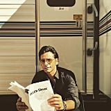 Finally, John Stamos shared a photo on himself on the set — looking as cool as he did in 1987. OK, way cooler.