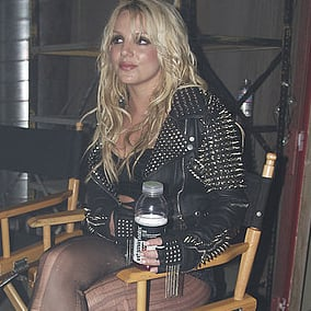 Picture of Britney Spears Shooting Till the World Ends Music Video