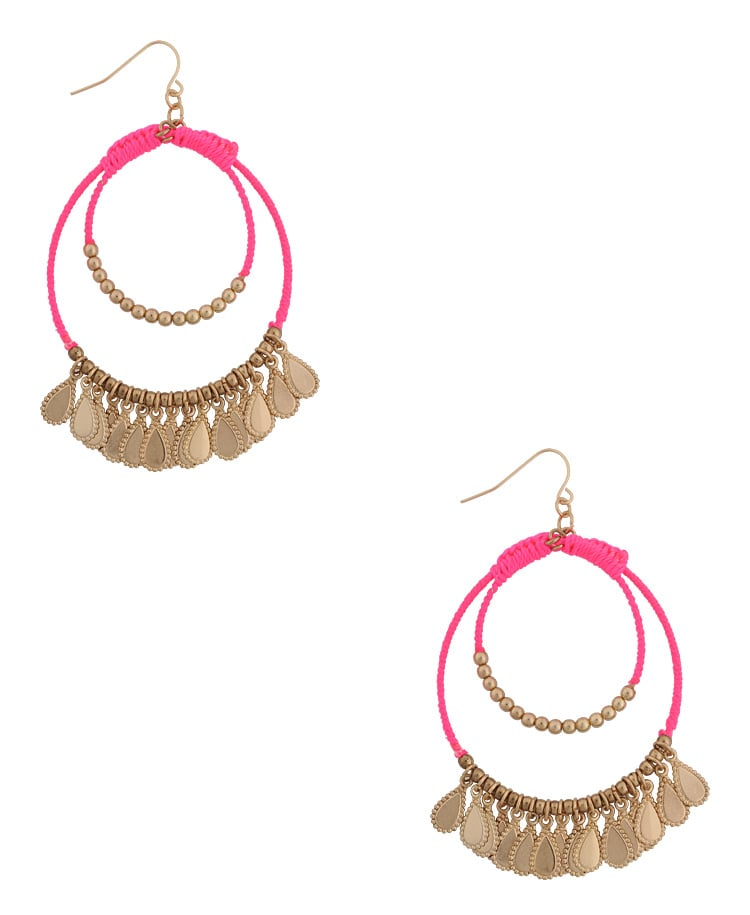 Forever 21 Threaded Chandelier Earrings ($7)