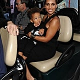 Alicia Keys brought her little one Egypt along for the ride backstage.
