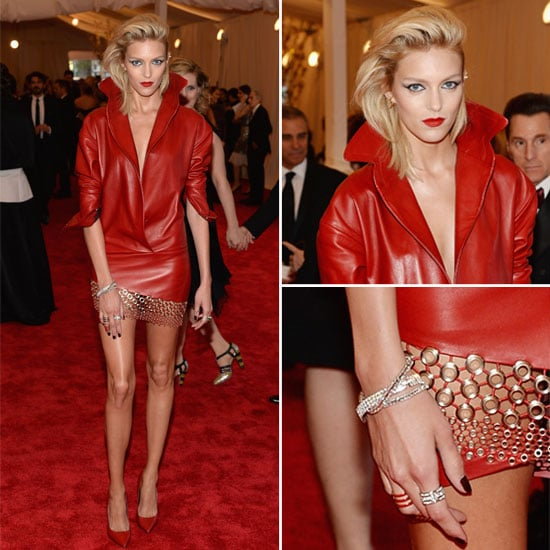 See Anja Rubik in Anthony Vaccarello at 2013 Met Gala Ball