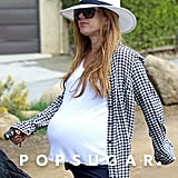Pregnant Isla Fisher went for a hike in LA on Sunday.