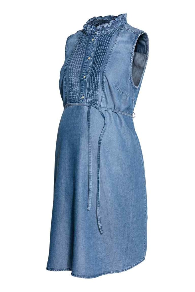 2eb4b59e4d975 H&M MAMA Lyocell Denim Dress | Best Maternity Clothes | POPSUGAR ...