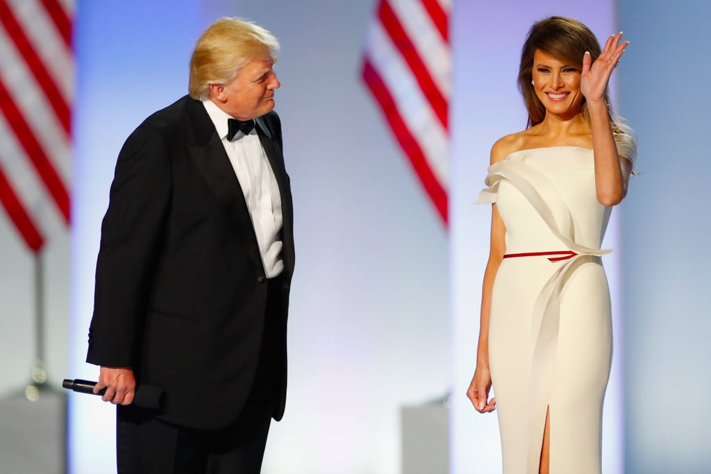 Melania Trump's Herve Pierre Inauguration 2017 Dress