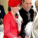 الأمير ويليام كيت ميدلتون في مراسم حفل فرسان غارتر 2016