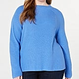 Eileen Fisher Funnel-Neck Organic Cotton Top