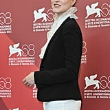 Evan Rachel Wood wears Dolce & Gabanna to the Venice Film Festival.
