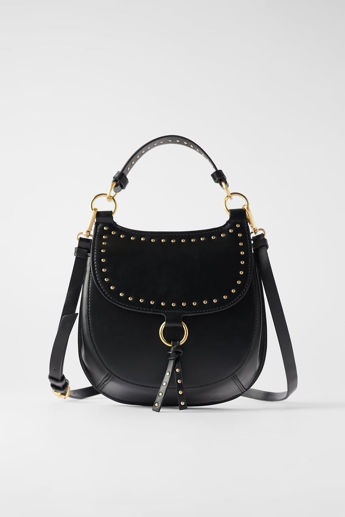 Zara Studded Equestrian Crossbody Bag