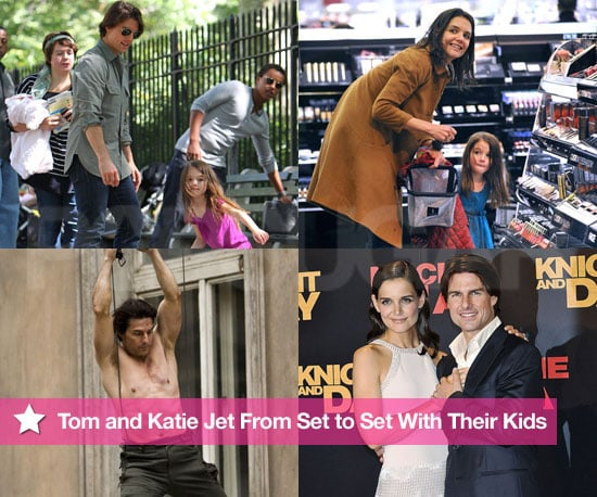 Pictures of Tom Cruise, Katie Holmes, and Suri Cruise in 2010