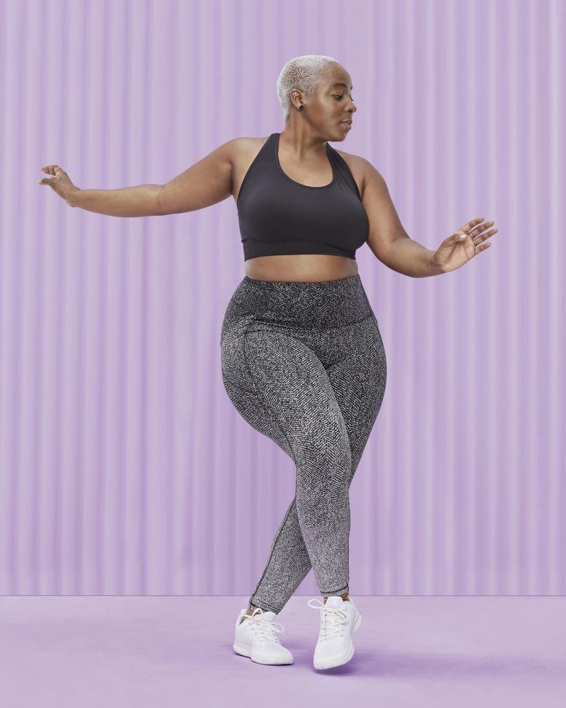 """Fitness looks different for everyone — we move differently, adapt to training differently, even sweat differently — so the clothing that supports us should follow suit. Target is bringing an all-new inclusive activewear line to stores. It's called """"All in Motion,"""" and it's for-real affordable for more body types. The women's apparel will range from sizes extra small to 4X and include T-shirts, tanks, shorts, skorts, sports bras, and swimwear. There will also be a men's line in sizes small through 3X and a children's line in sizes extra small to XXL. What's more, look out for polos, light outerwear, and equipment such as stability balls, yoga mats, and hand weights. In addition to the inclusive sizing, the lack of burden on your wallet for this launch is also a major win. Prices, on average, for leggings, shorts, and tops from Target's newest owned brand range from only $8 to $30. Women's clothes specifically cost anywhere from $12 to $45, the men's line ranges from $12 to $68, and the kids' apparel costs $8 to $30. The sporting goods (aka, equipment) goes for as low as $4 up to $70. The soft, durable fabrics are also reportedly water-resistant, sustainably-sourced, and ultraviolet protective. Material reportedly provides odor control as well (which is always a great promise). Jill Sando, Target's senior vice president and general merchandise manager, Apparel and Accessories and Home, told POPSUGAR in a statement via email that they got feedback from over 15,000 men, women, and kids with varying activity levels across the US. """"One thing became abundantly clear to us,"""" she said. """"Guests are seeking quality activewear and sporting goods that they trust will perform at an affordable price. That's why we designed our newest owned brand, All in Motion, for the entire family and for all stages of their fitness journey."""" Jill continued, """"With a size-inclusive assortment that incorporates quality, durable fabrics, and sustainably sourced materials, we are ringing in the New """