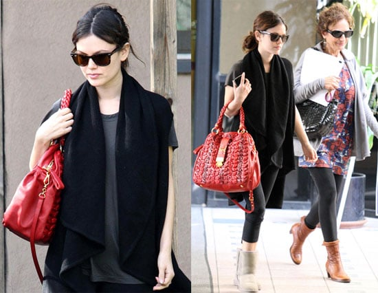 Photos of Newly Engaged Rachel Bilson with her Ring and Her Mother in LA