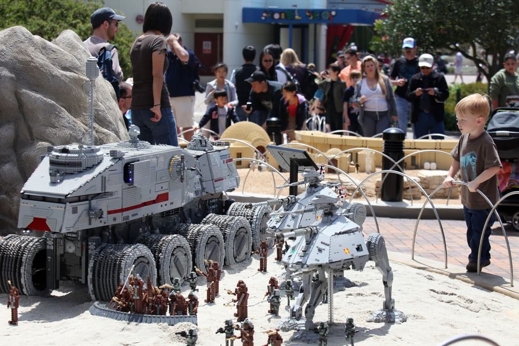 AT-ATs on attack; they're probably not used to a child-sized audience.