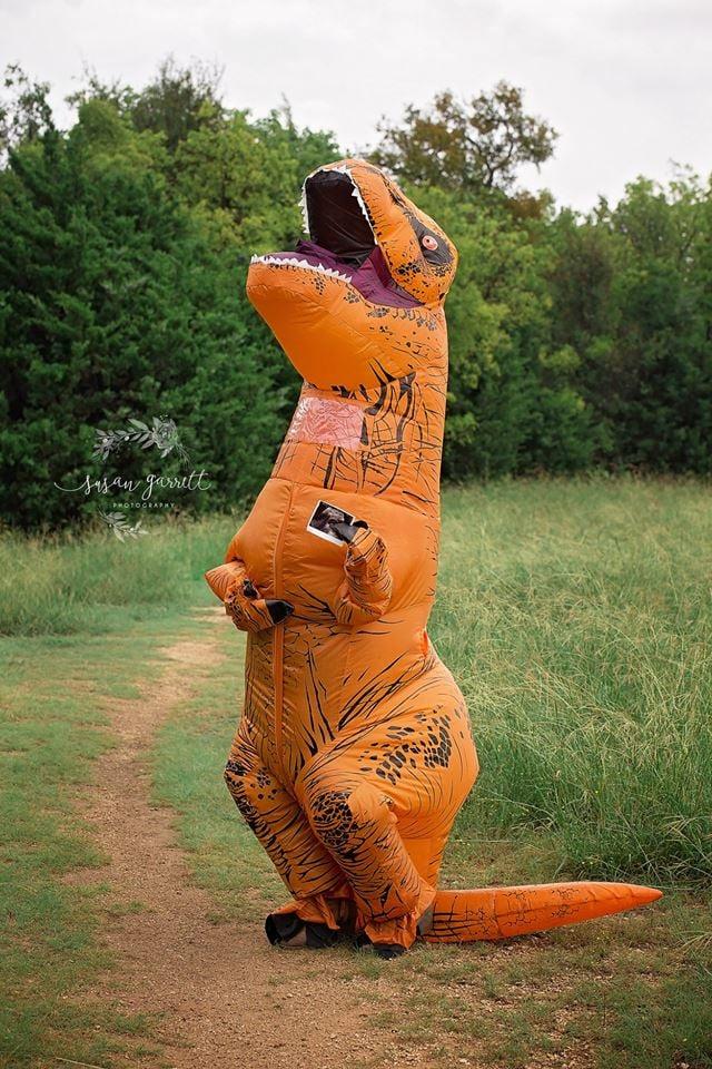 Family's Dinosaur Pregnancy Announcement