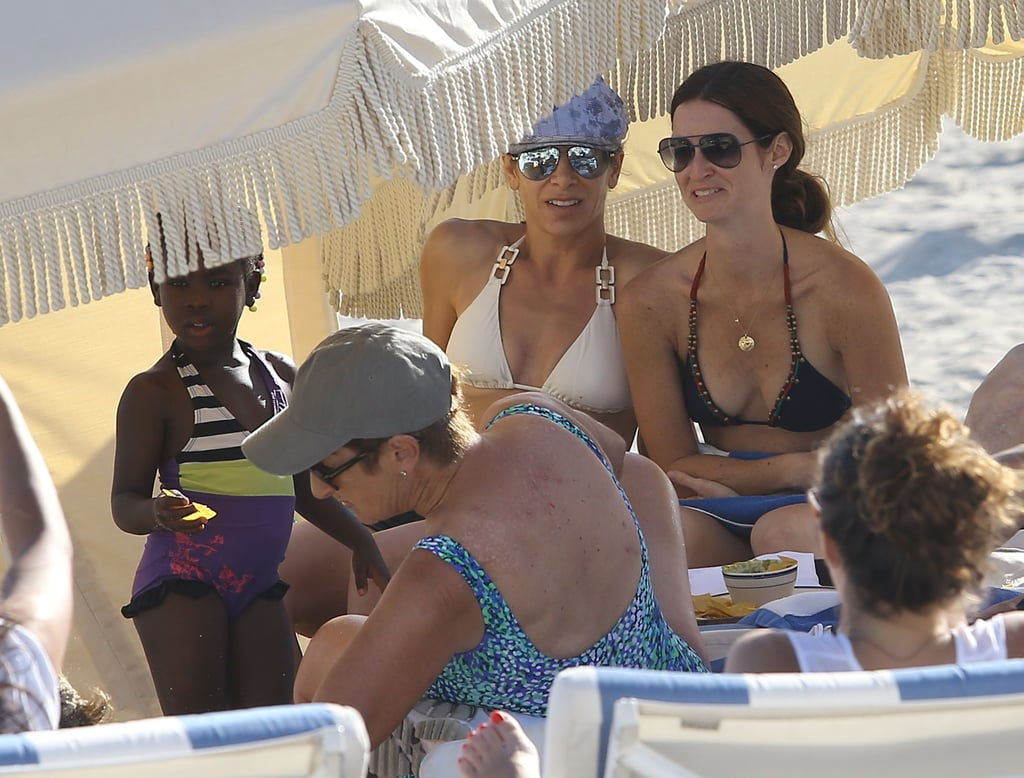 Jillian Michaels relaxed in Miami with her family.