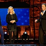 Jon Stewart, Amy Poehler and Tina Fey appeared on stage in NYC for the benefit.