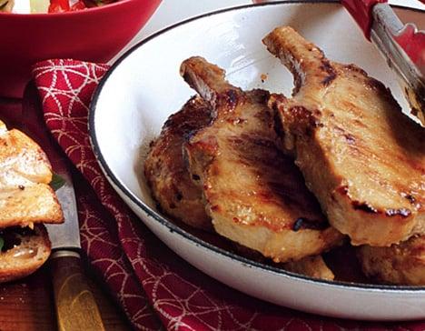 Garlic-Miso Pork Chops