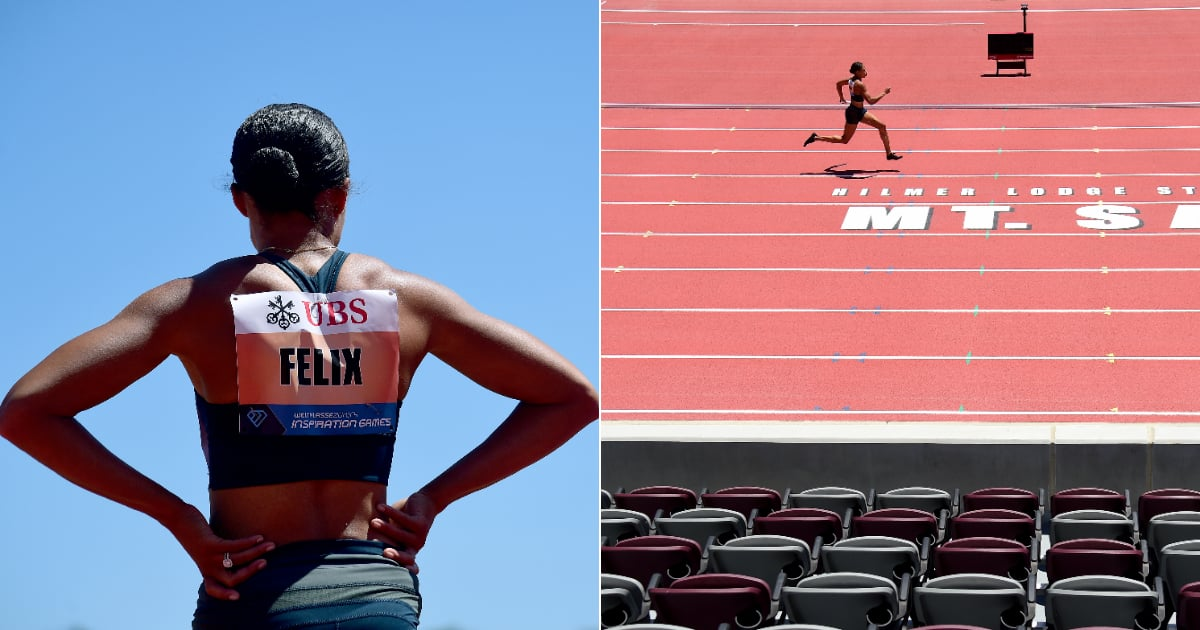 Allyson Felix Wins 150-Meter Sprint in the Physically-Distanced, Virtual Inspiration Games