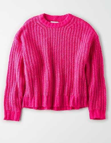American Eagle Cozy Crew Neck Sweater