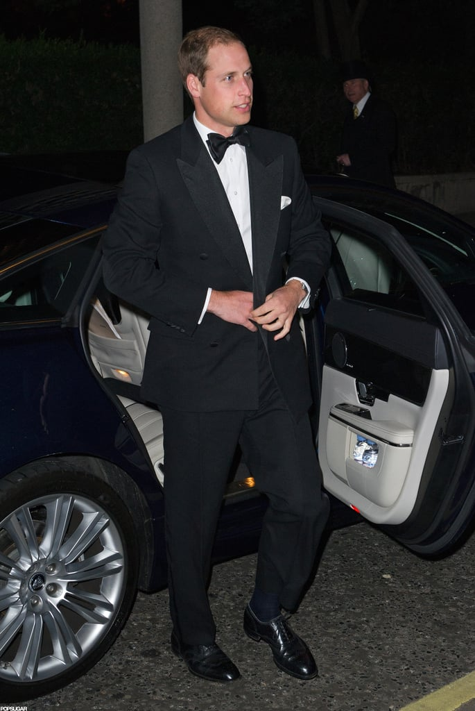 Prince William wore a tux in London.