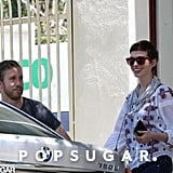 Anne Hathaway and Adam Shulman headed to the car after furniture shopping together in LA.