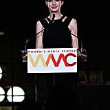 Anne Hathaway hosted the Women's Media Awards.