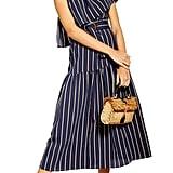 Topshop Sicily One-Shoulder Midi Dress