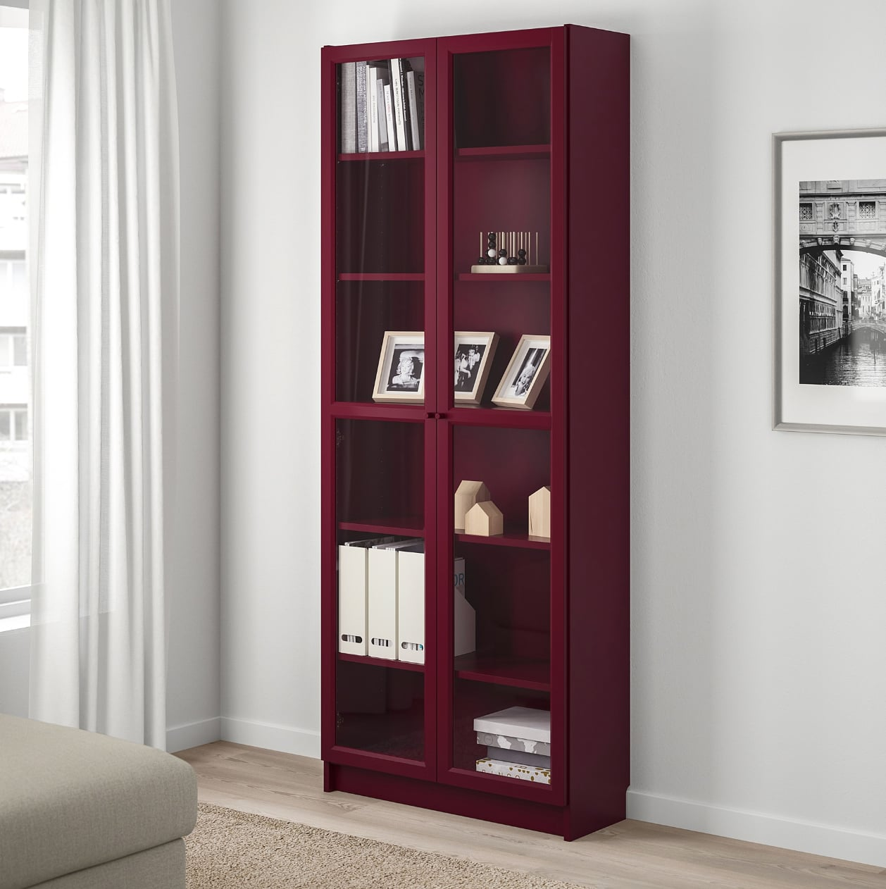 Billy Bookcase With Glass Doors Small Spaces Big