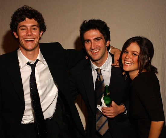 Adam Brody and Rachel Bilson hung out with OC creator Josh Schwartz at a 2003 Emmys afterparty.