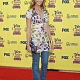 She opted for a botanical printed dress and jeans at the 2005 Teen Choice Awards.